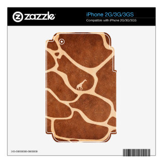Giraffe Skin Pattern Surface Stains Lines Decal For iPhone 3GS