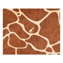 Giraffe Skin Pattern Surface Stains Lines Flyer