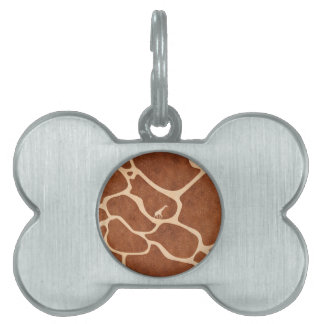 Giraffe Skin Pattern Surface Stains Lines Pet Tag