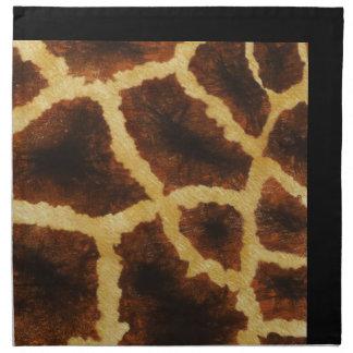 Giraffe Skin Print Napkins