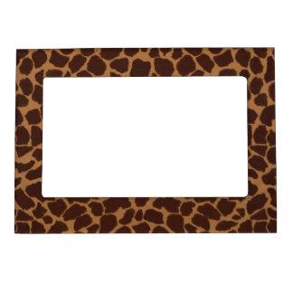 Giraffe Skin Print Pattern Magnetic Photo Frame