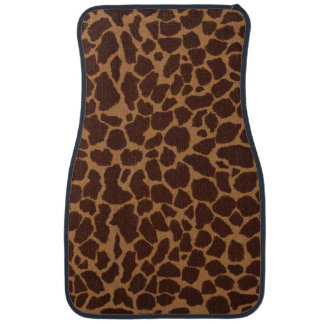 Giraffe Skin Print Pattern Personalize Car Mat