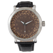 Giraffe Skin Print Pattern Wrist Watch
