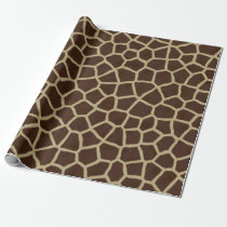 Giraffe skin print wrapping paper