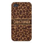 Giraffe Spot Pattern Personalize iPhone 4 Cover
