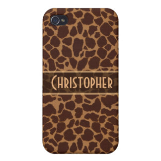 Giraffe Spot Pattern Personalize iPhone 4 Cover
