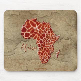 Giraffe Spots Map of AFRICA Wildlife Mouse Pad
