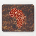 Giraffe Spots Map of AFRICA Wildlife Mouse Pads