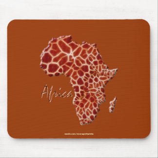 Giraffe Spots Map of AFRICA Wildlife Series Mouse Pad