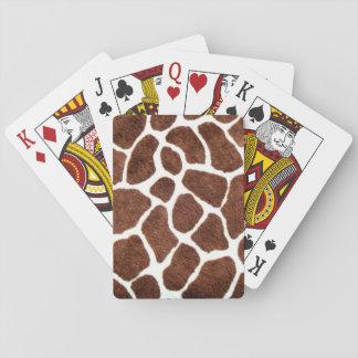 Giraffe spots poker cards