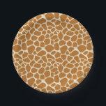 "Giraffe Spots Paper Party Plates<br><div class=""desc"">giraffe spots pattern print wild africa zoo animal animal cartoon safari skin fur</div>"