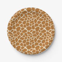 Giraffe Spots Paper Party Plates