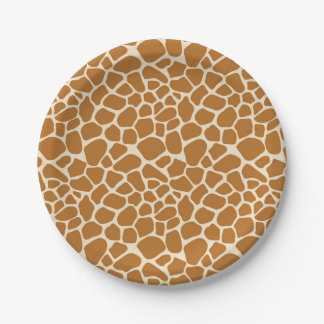 Giraffe Spots Paper Party Plates 7 Inch Paper Plate