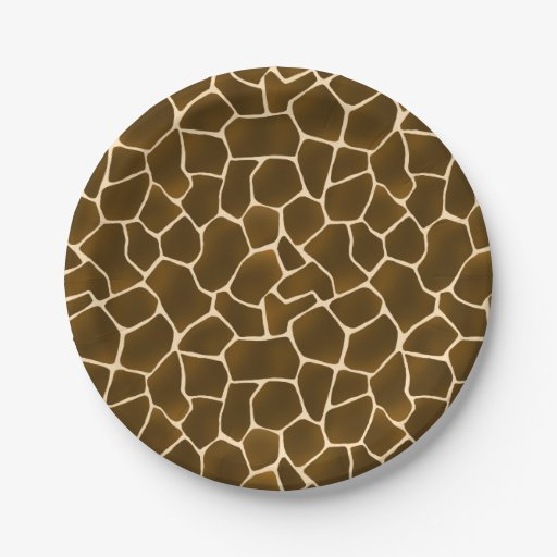 Giraffe Spots Wild Safari Animal Print Paper Plate Zazzle  sc 1 st  Castrophotos & Giraffe Print Paper Plates - Castrophotos