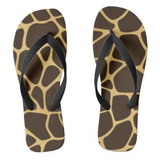 Giraffe Spotted Background Flip Flops
