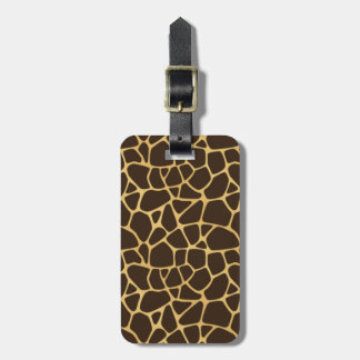 Giraffe Spotted Background Travel Bag Tags