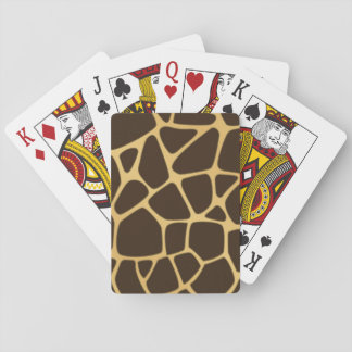 Giraffe Spotted Background Playing Cards
