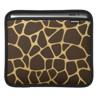 Giraffe Spotted Background Sleeves For iPads
