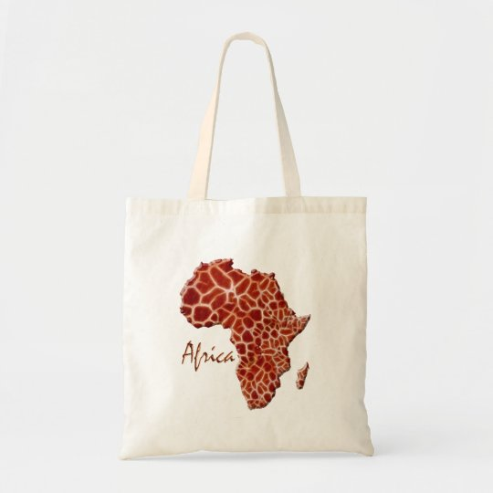 Giraffe-spotted Map of Africa Tote Bag
