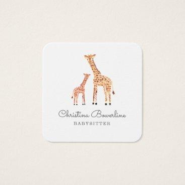 Giraffe Square Business Card