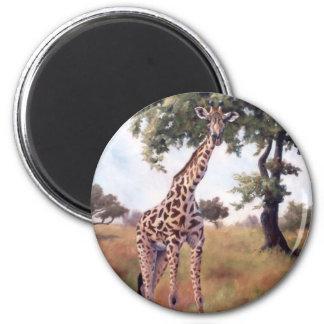 Giraffe Standing Tall Magnet