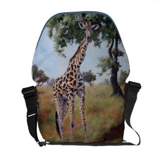 Giraffe Standing Tall Messenger Bag