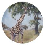 Giraffe Standing Tall Plate