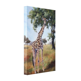Giraffe Standing Tall Wrapped Canvas Print