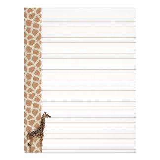 Giraffe Stationary Letterhead