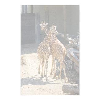 giraffe stationary customized stationery