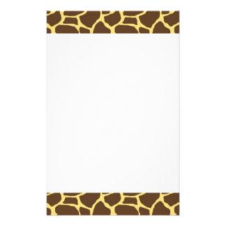 Giraffe Custom Stationery