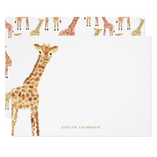 Giraffe Stationery Card