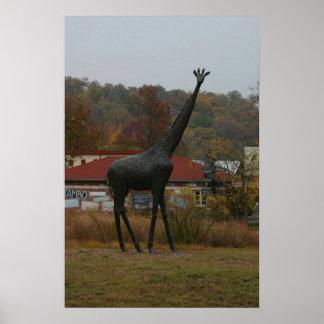 Giraffe Statute Poster