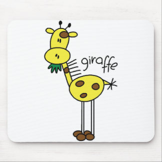 Giraffe Stick Figure Mousepad