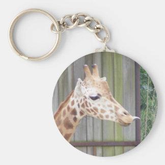 Giraffe Sticking out tongue Keychain