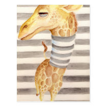 Giraffe Stripes Postcard