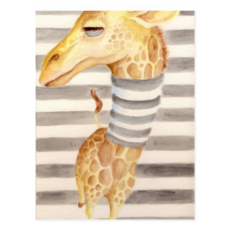 Giraffe Stripes Postcard