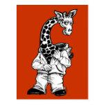 Giraffe-Suit Postcard