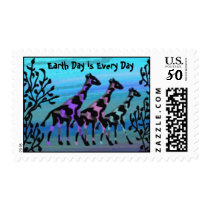 Giraffe Sunrise Earth Day Everyday Postage Stamps