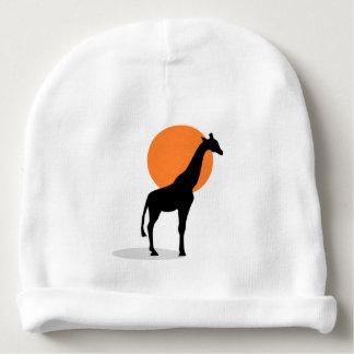 Giraffe Sunset Baby Beanie