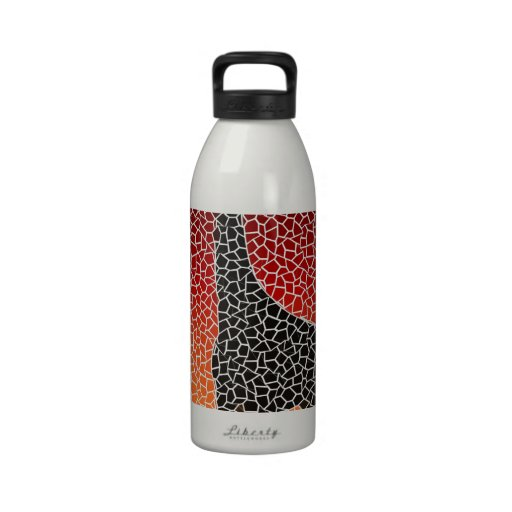 Giraffe Sunset Mosaic Drinking Bottles
