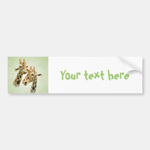 Giraffe Talk Bumper Sticker
