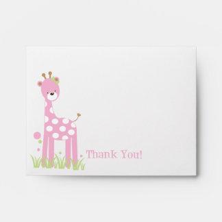 Giraffe Thank You Envelope