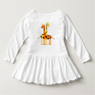 Giraffe Toddler Ruffle Dress