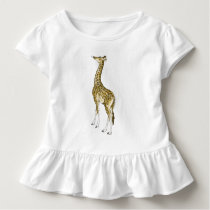 Giraffe Toddlers Ruffle Toddler T-shirt