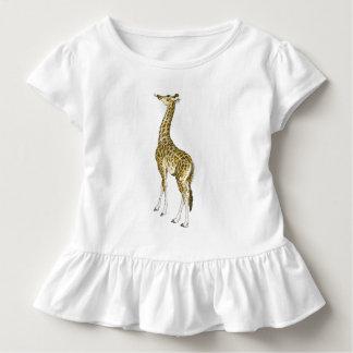 Giraffe Toddlers Ruffle Toddler T-shirt