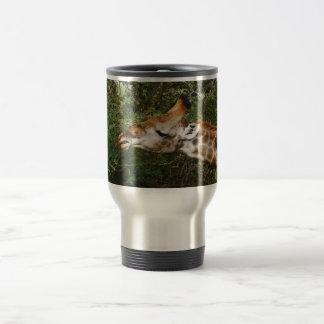 Giraffe travel coffee mugs