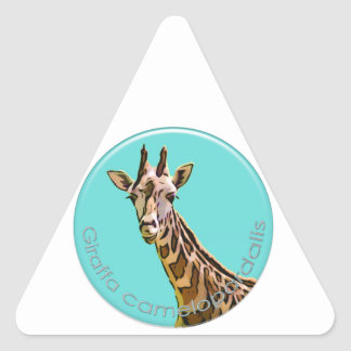 Giraffe Triangle Sticker