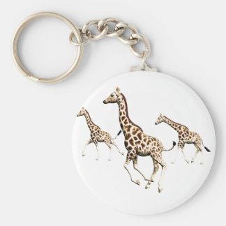 Giraffe Trio Keychain