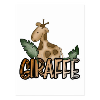 Giraffe Tshirts and Gifts Postcard